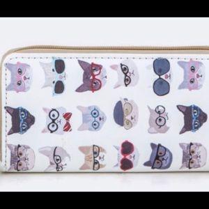 Handbags - ✨NEW✨ 🐱👓 Zipper Wallet Cats Wearing Glasses